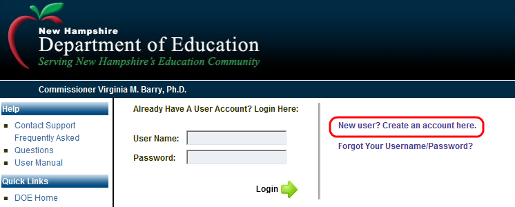 INTRODUCTION mynhdoe is the single sign-on system for the NH Department of Education (DOE) and provides users access to the Department s secure applications with a single login.