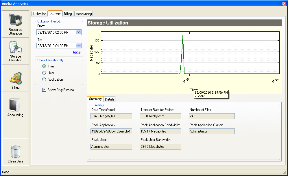 Figure 61 - Reporting and Accounting - CPU Utilization Figure 61 shows the Reporting and Accounting dialog.