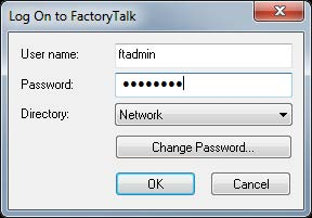 Configuring FactoryTalk Security with Logix Designer application Chapter 2 In the example below, the FactoryTalk Directory (FTD) was configured with an account called FTADMIN. 4.