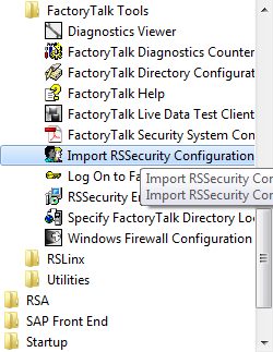 Chapter 3 Migrating from a security server database to a FactoryTalk server Introduction Importing a security server database To migrate to a FactoryTalk Security server, you must first export the