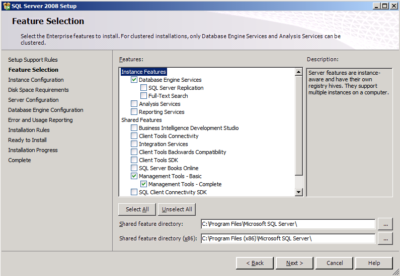 11. On the Instance Configuration page, select the Named instance