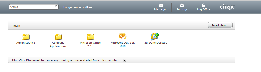 Once you have installed the Citrix Receiver for your device or computer, login to the Citrix Remote access site.