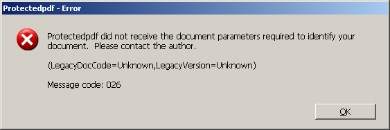 There are several reasons that could cause this error message.