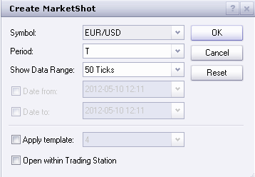 Marketscope Userguide How to Create a Chart Method #1 1. Go to Charts in the menu bar. 2. Then click on Create MarketShot. This will enable you to create the chart that you want. 3.