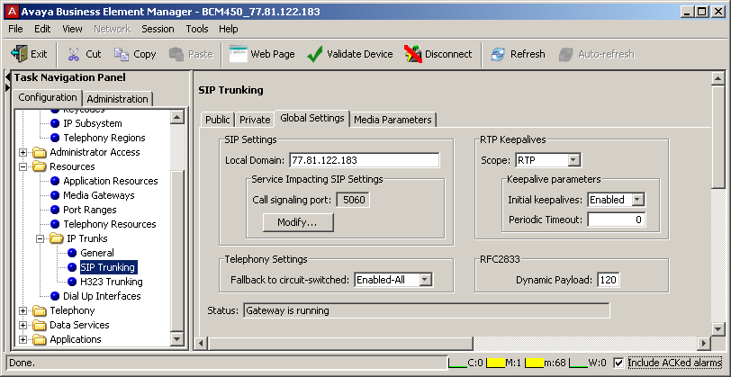The SIP Media Parameters tab allows you to specify the order in which the SIP trunk selects IP telephony system controls for codecs, jitter buffers, silence suppression, and payload size.
