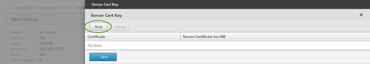 11. Under Advanced, click SSL Certificate and perform the following actions: