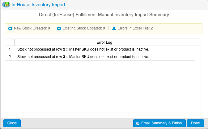 20 4. Warehouse Inventory Import a. Navigate to Inventory Import/Export b. On the pop-out, select your warehouse c. Press d.