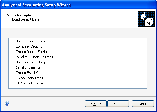 CHAPTER 1 SETUP To create default records: 1. Open the Analytical Accounting Setup wizard window.