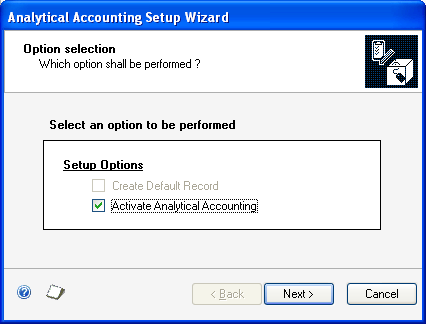 CHAPTER 1 SETUP Activating Analytical Accounting You must activate Analytical Accounting in all the companies where it will be used.