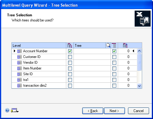 CHAPTER 18 INQUIRIES 7. Choose the GoTo button to select other windows to open in the Multilevel Query wizard. 8.