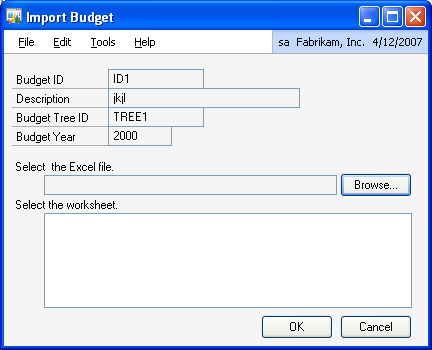 CHAPTER 3 BUDGETS If the imported file is the account- budget tree format, the amounts will be imported against the accounts and the tree.