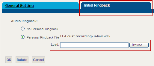 Custom Ringback User Custom Ringback User enables callers to hear a media file when they call you.