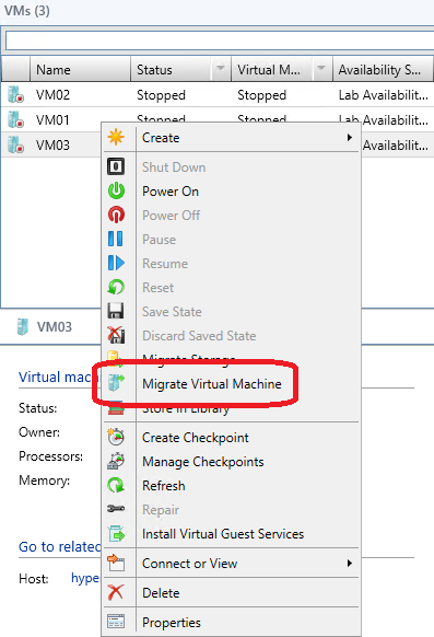 25. Select the VMs and Services workspace. 26.