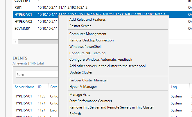 Exercise 7.2: Configure a Hyper-V Replica Broker In this exercise the Hyper-V Replica Broker will be configured.