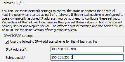 21. In the navigation pane, expand the VM01 network adapter, and select Failover TCP/IP. 22.