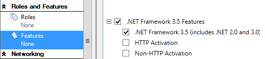 30. In the details pane, scroll down to Web Server (IIS) and select the following: 31. In the detail pane, scroll down to Web Server and select the following: 32.