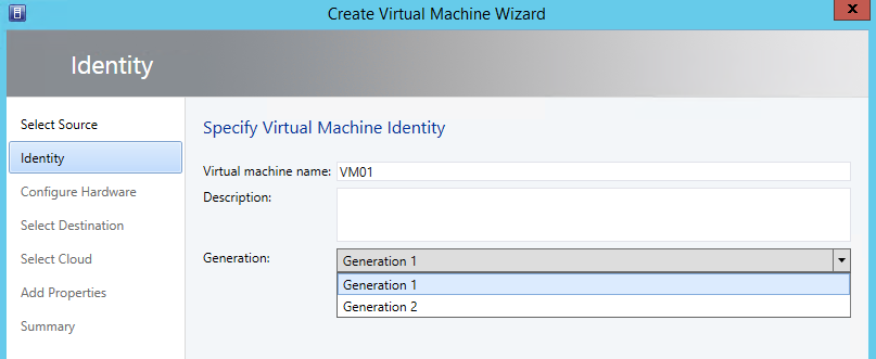 3. On the ribbon, click Create Virtual Machine, and then select Create Virtual Machine. 4.