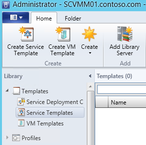 8. In the Select a Run As Account window, ensure that Library Admin is selected, then click OK. 9. In the SCVMM01.contoso.