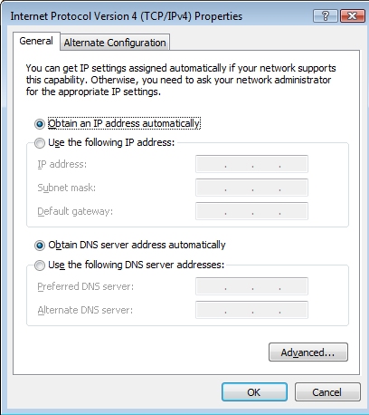 Configure ICS or Automatic Private IP Addressing Whether you are going to use ICS or Automatic Private IP Addressing, the workstation configuration is identical.