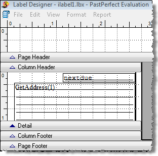 488 PastPerfect Museum Software User s Guide Figure 22-32 Print When screen Type in:!empty(nextdue) 6.
