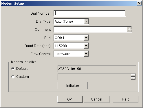6.1 Connect To connect to the PBX by Modem 1. From the Connect menu, select Connect. The Connect to PBX window will be displayed. 2. Select a connection option.