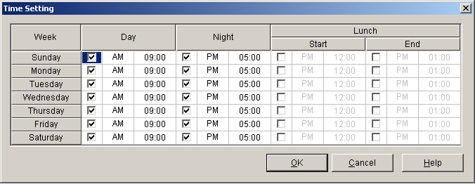 9.1 System [1] Manual, Automatic [006] Time Service Switching Mode 9.1.5 Time Service [1-4] Time Setting 1.1.114 Time Service Current Mode This program is available only when Manual is selected in Time Service Switching Mode on this screen.