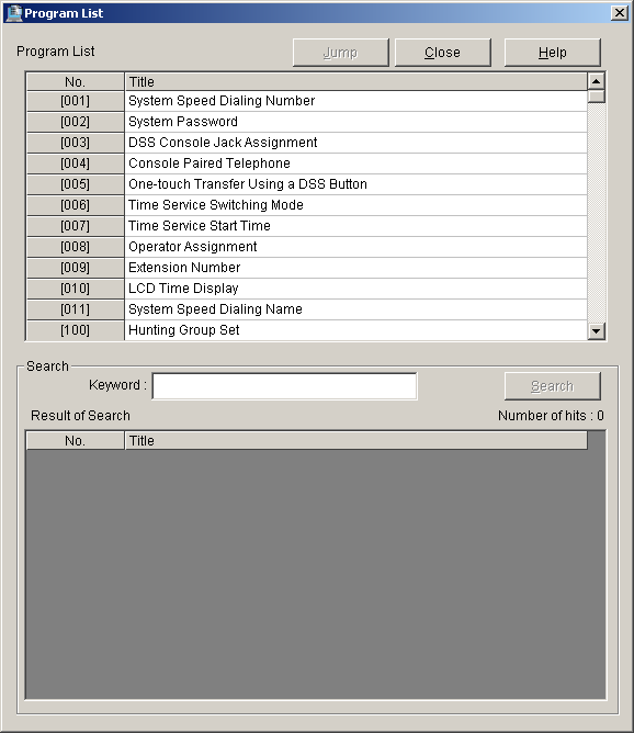5.7 File Transfer PBX to PC 5. Click OK. 5.7 File Transfer PBX to PC Creates a backup file containing all PBX system data on the PC. Once saved, this file can be edited in Batch mode using 5.