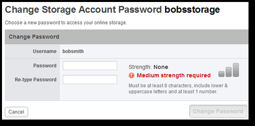 Choosing your password Here are some tips to help you choose a secure password: You must choose a password that is at least 8 characters in length.