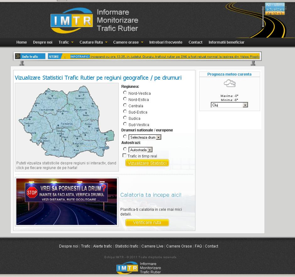 "dowload weather related data for the selected roads from ""weather.com"" and traffic incidents from infotrafic."