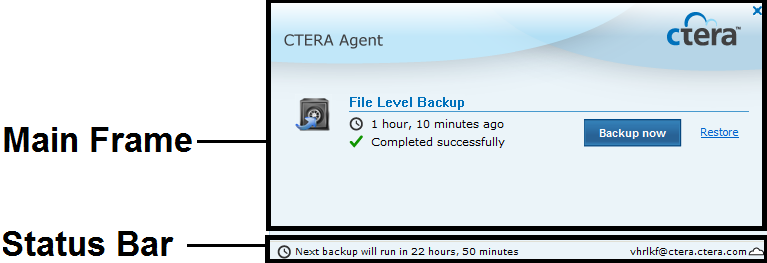 4 Using the CTERA Agent in Cloud Agent Mode Suspending and Resuming Backup You can suspend backup for a CTERA Agent, including: The currently running backup for the CTERA Agent All scheduled