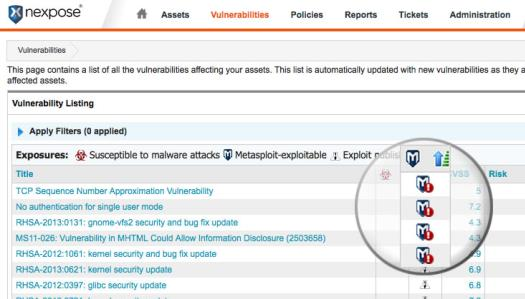 NEXPOSE ENTERPRISE METASPLOIT PRO  Effective Vulnerability