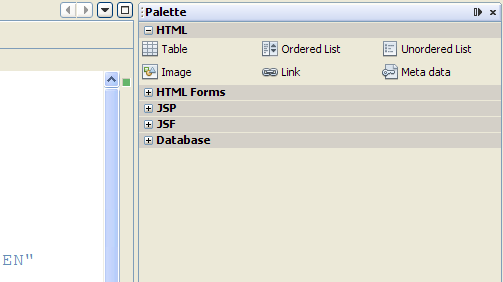 Inserting a Form Invoke the palette: from the menu,