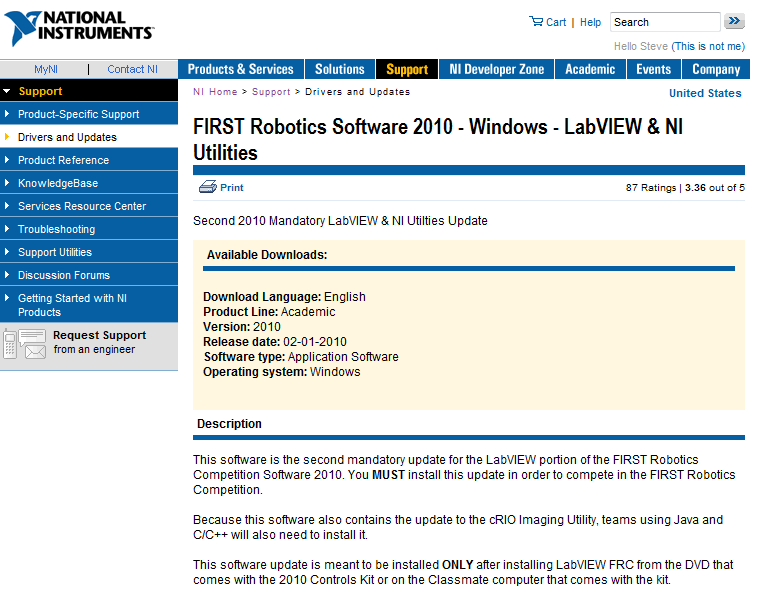 FIRST Robotics LabVIEW Training - PDF