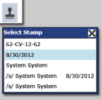 efiletexas.gov 4. Click to add the available image stamps options to the document.