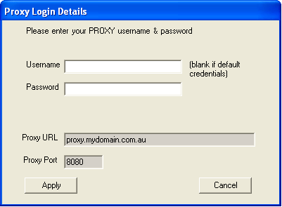 If you are using Windows Authentication, leave the Username and Password blank (most common).