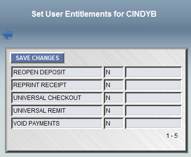 8. Click Save Changes. Reopen Deposit allows user to re-open (unlock) cash drawers and deposits.