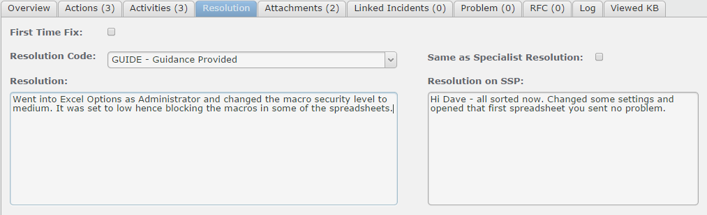 Dave replies to the question by selecting Add Comment (or add File).