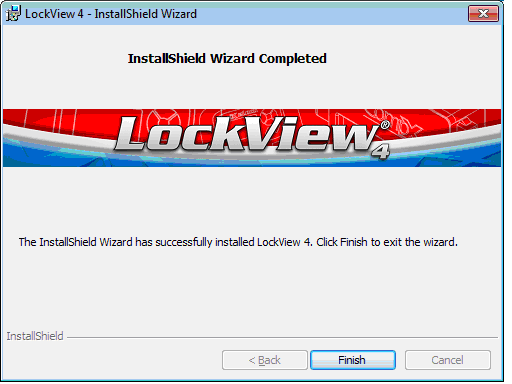 INSTALL LOCKVIEW 4 continued 9. Installation begins 10. Click Finish Continue to document: Configure LockView for SQL (pages 28-33) Or Configure LockView for Access (pages 26-27) 11. Restart computer.