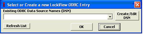 CONFIGURING LOCKVIEW FOR SQL Note: For standalone install with Access database, go to page 26. 1.