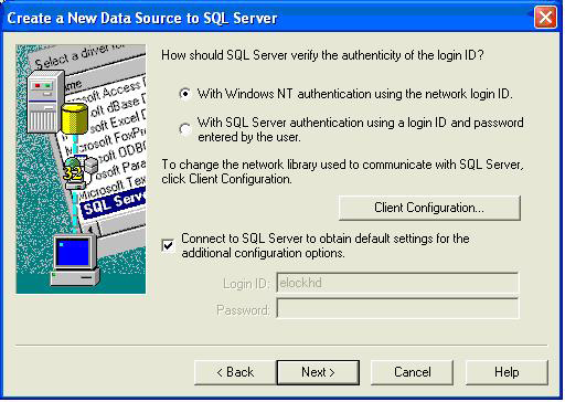 CONFIGURING LOCKVIEW FOR SQL continued 6.