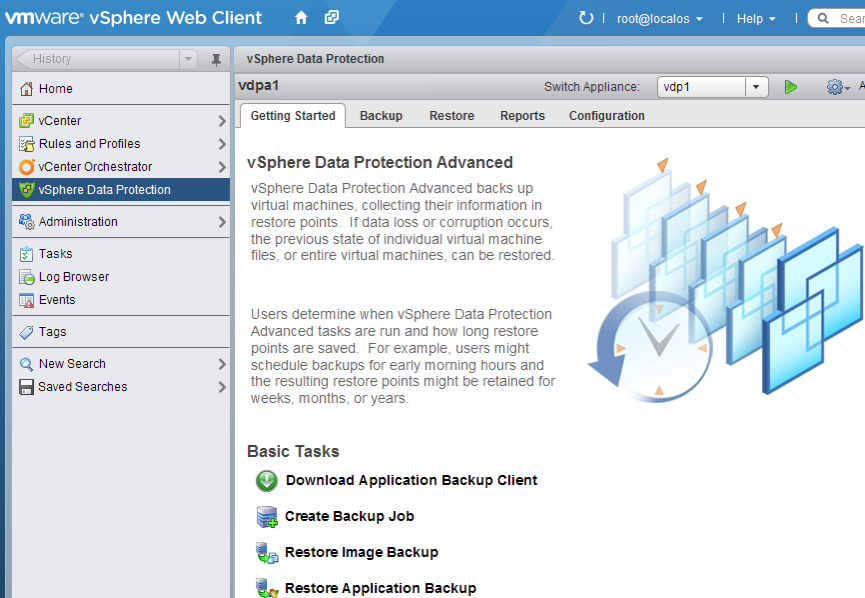 Deployment and Configuration vsphere Data Protection and vsphere Data Protection Advanced are deployed using vsphere Web Client or VMware vsphere Client from a prepackaged Open Virtualization Archive