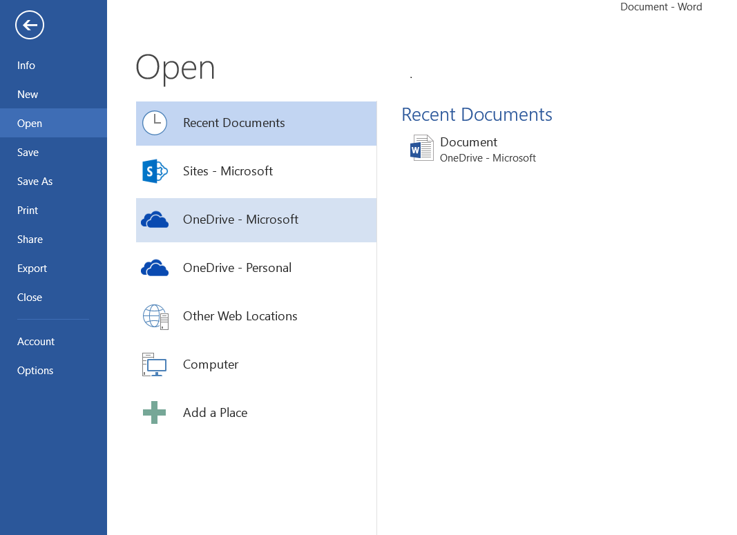 11 Save and Share Files in the Cloud with OneDrive for Business 5. If necessary, sign in to Office 365, as described at the beginning of this guide. Open a file from an Office 2013 application 1.