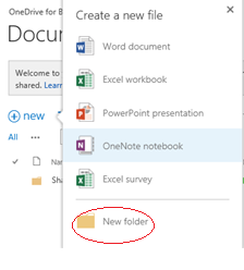 6 Save and Share Files in the Cloud with OneDrive for Business Delete a file 1. On the OneDrive for Business Documents page, select the icon to the left of the file name you want to delete. 2.