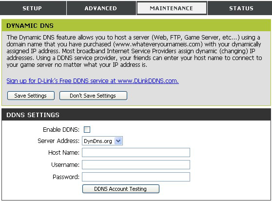 Dynamic DNS The DIR-100 supports DDNS or Dynamic Domain Name Service.