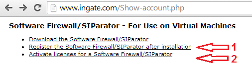 Software SIParator / Firewall - PDF