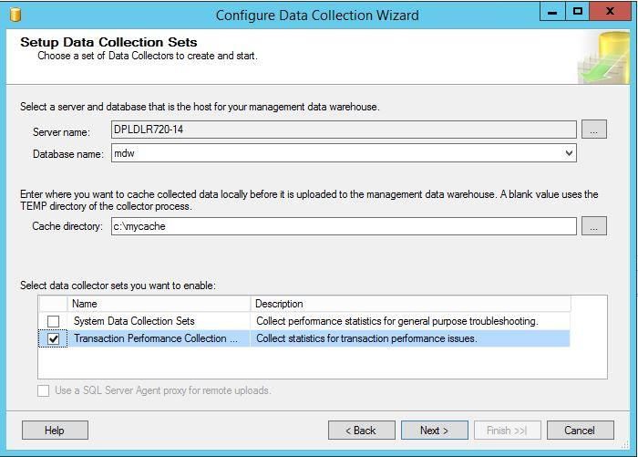 8. Select the appropriate server and database.