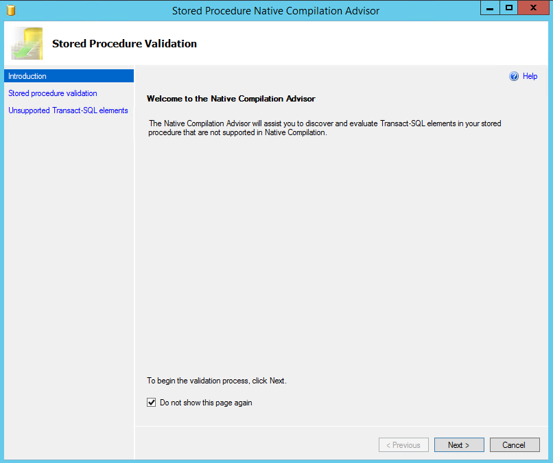 NATIVE COMPILATION ADVISOR Below is a step-by-step procedure for using