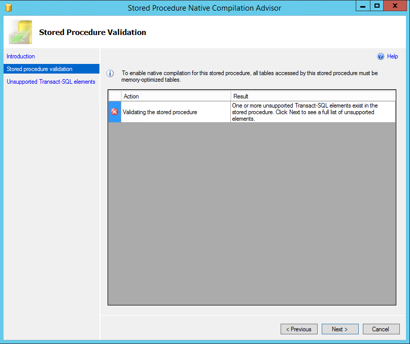 2. Fix the code in the stored procedure associated with the