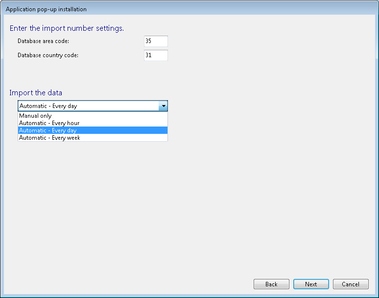 Data replication settings In this step you can make addition settings to your data source.