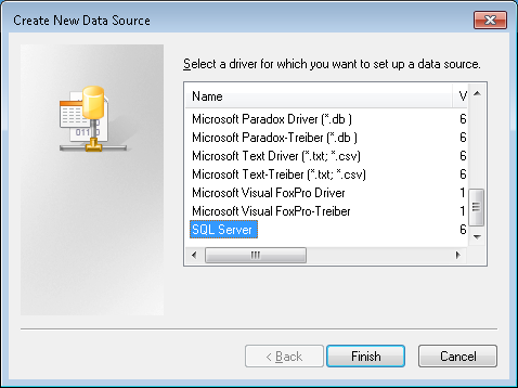De settings for your data source differ per ODBC driver. Please consult the ODBC driver documentation.